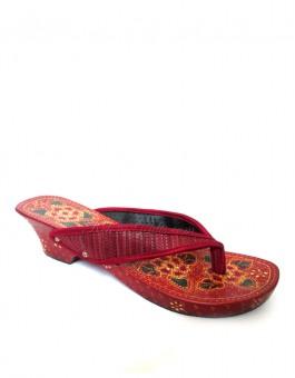 Kelom Geulis Batik Jepit Bunga Merah
